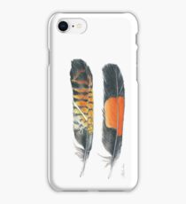 Red Tailed Black Cockatoo, vertical iPhone Case/Skin