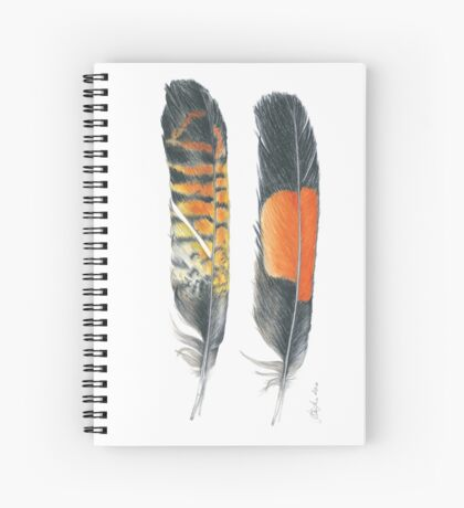 Red Tailed Black Cockatoo, vertical Spiral Notebook