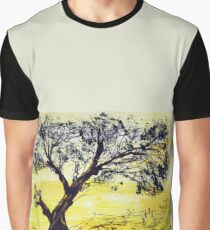 Tree Silhoutte in Yellow Graphic T-Shirt