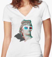 j4vaexe 3d Women's Fitted V-Neck T-Shirt