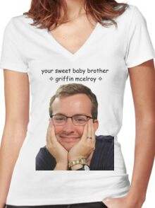 your sweet baby brother griffin mcelroy from polygon.com Women's Fitted V-Neck T-Shirt