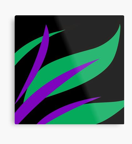 Green and Purple Tropical Abstract Metal Print