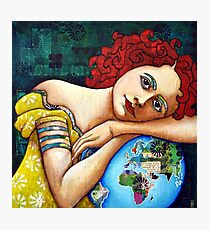 Protect : portrait of a Gaia (Mother Earth Goddess) Photographic Print