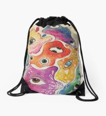 Psychadelic Eyes Drawstring Bag