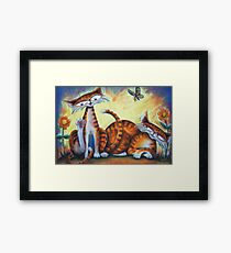 Two Tails, Bath Time Framed Print