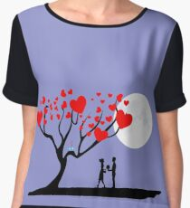 Love is in the Air Women's Chiffon Top
