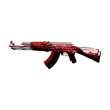 AK-47 Pop Art by ThugPigeon