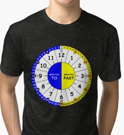 Clock for teaching the time V2 Tri-blend T-Shirt