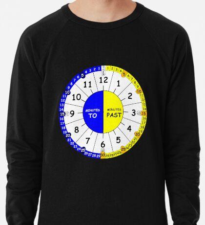 Clock for teaching the time V2 Lightweight Sweatshirt