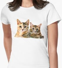 Kitten Canoodle Womens Fitted T-Shirt