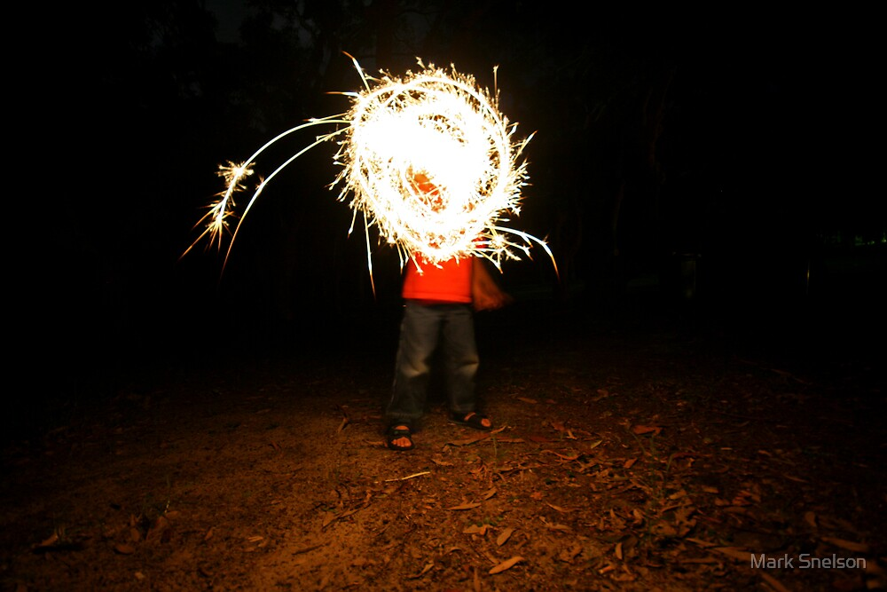 Sparkler Boy by Mark Snelson