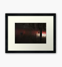 Mono and red textures Framed Print