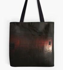 Mono and red textures Tote Bag