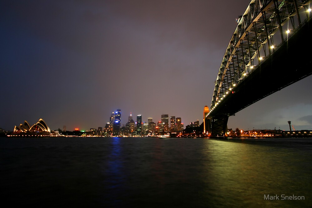 Sydney Harbour at Night by Mark Snelson