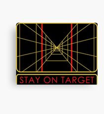 Stay On Target Canvas Print