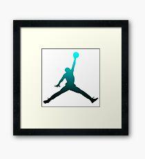 Michael Jordan Logo Framed Print