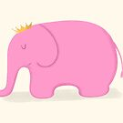 Queen Pink Elephant by cartoonbeing