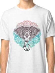 Vintage ornate mandala elephant with tribal ornaments. Classic T-Shirt