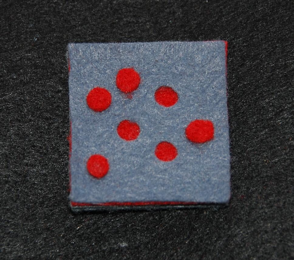 Domino series brooch by theatresets