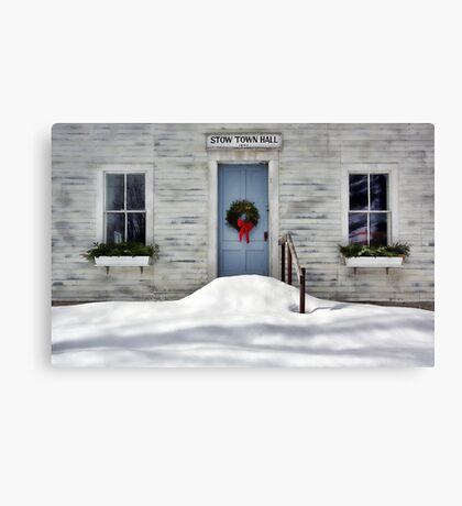 The Stow Town Hall 1842 - Stow,  Maine Canvas Print