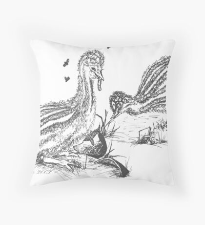 The Chicks Feast Throw Pillow