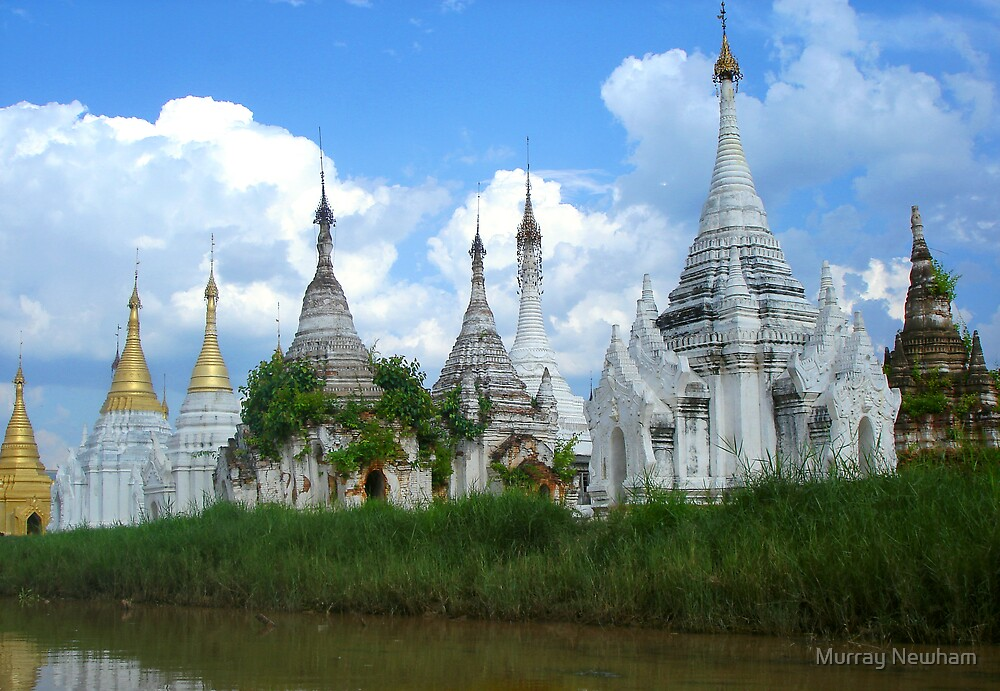 Temples of Inle by Murray Newham