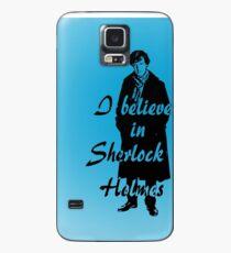 I believe in sherlock Holmes - blue Case/Skin for Samsung Galaxy