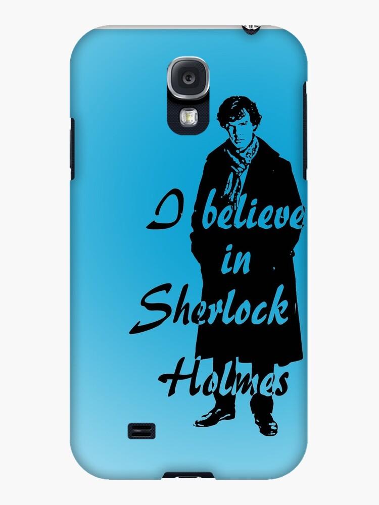 I believe in sherlock Holmes - blue by ibx93