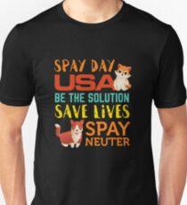 Spay Day USA  Spay Neuter Adopt Unisex T-Shirt