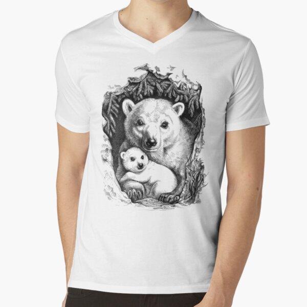 Polar bear family V-Neck T-Shirt