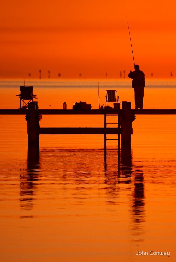 Fishing at Dawn by John Conway