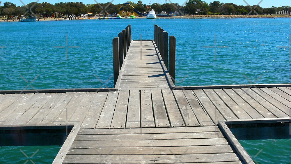 Cross shaped pier by Sandra Chung