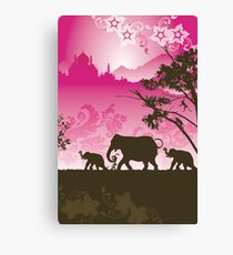Indian elephants Canvas Print