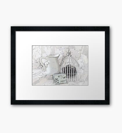 Stuck and all Alone Framed Print