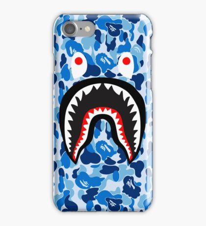 bape shark blue iPhone Case/Skin