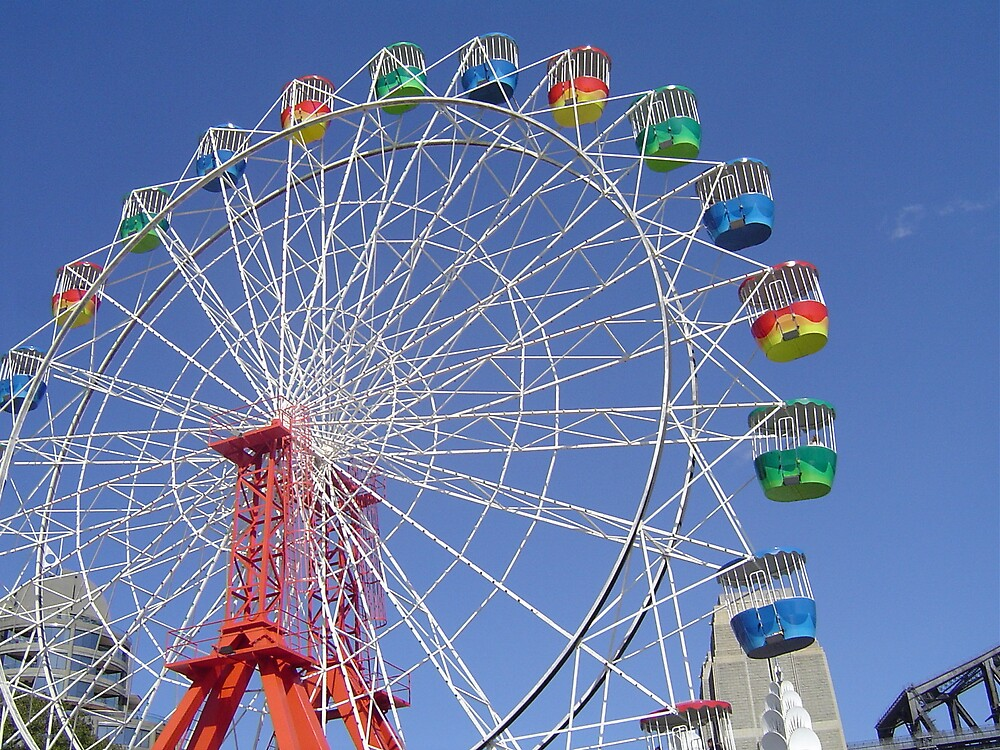 Colourful ferris wheel by judy