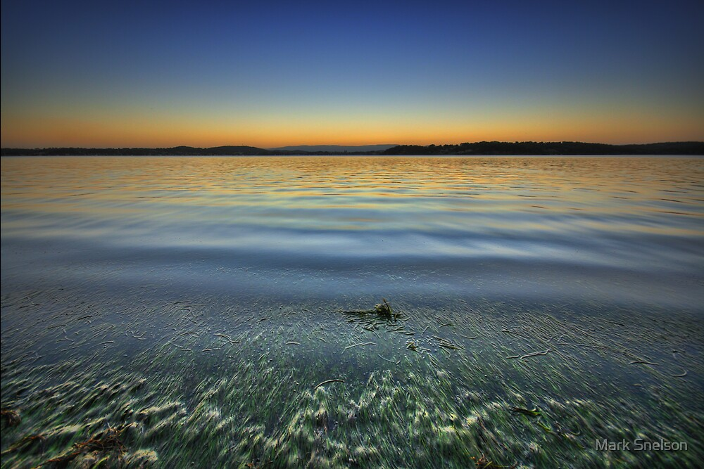 Lake Macquarie at Dusk by Mark Snelson