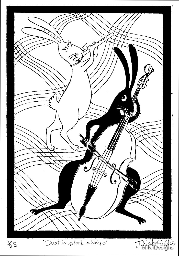 Duet in black and white by MiMiDesigns