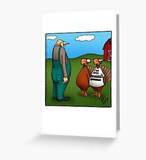 "Funny ""Spectickles"" Thanksgiving Turkey Cartoon Greeting Card"