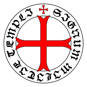 Knights Templar 12th Century Seal - Holy Grail - templars - crusades - V2 by createdezign