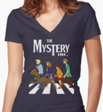 scoobydoo mystery machine  Women's Fitted V-Neck T-Shirt