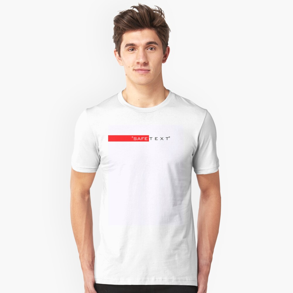 Very important to stay safe Unisex T-Shirt Front