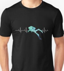 Camiseta unisex Scuba Diving Heart Beat - Mejor regalo para Diver