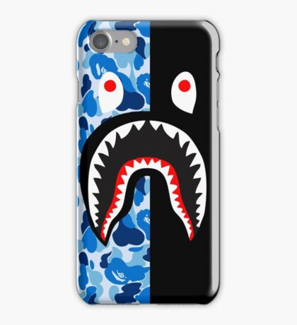 camo blue black bape iPhone Case/Skin