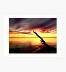 Barmera Sunset 0002 Art Print