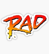RAD BMX MOVIE 1986 Sticker