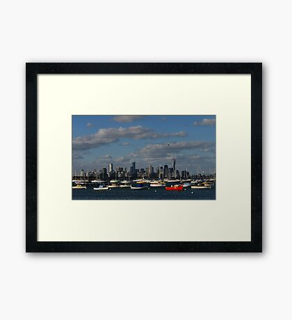 Boats and Buildings Framed Print