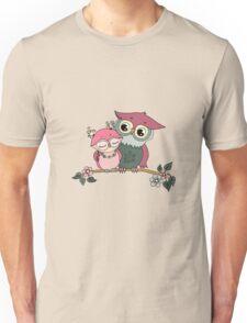 Two cute owls fallen in love Unisex T-Shirt