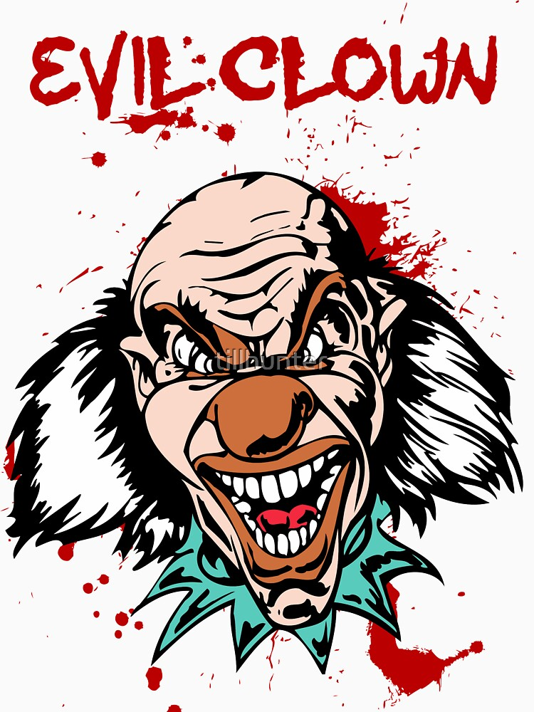 Scary killer clown by tillhunter