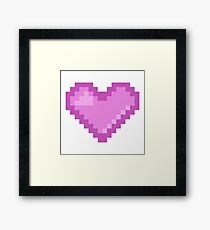8bit Love Framed Print